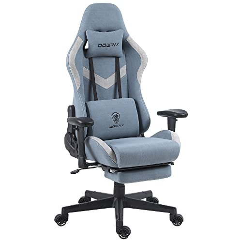 Dowinx Gaming Chair Breathable Fabric Office Chair with Massage Lumbar Support, High Back Ergonomic...