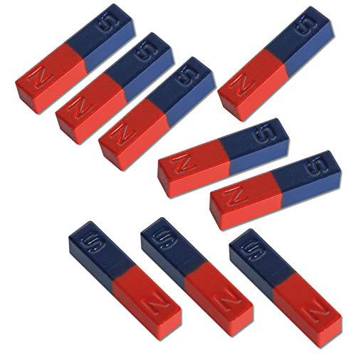 Wiemann Lehrmittel Stabmagnete-Set, Schulmagnete, Schülermagnete, 10 Stück