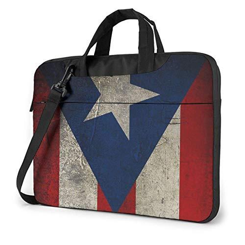 Bolso Bandolera Impermeable para Ordenador portátil, Papel Tapiz de Puerto Rico, Funda con Estampado de Bandera, Funda para Ordenador portátil, maletín para Ordenador portátil