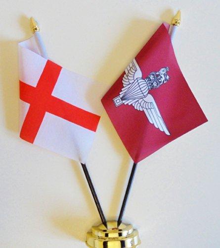 Drapeau de table Angleterre & amitié parachute Regiment Écran 25 cm (25,4 cm)