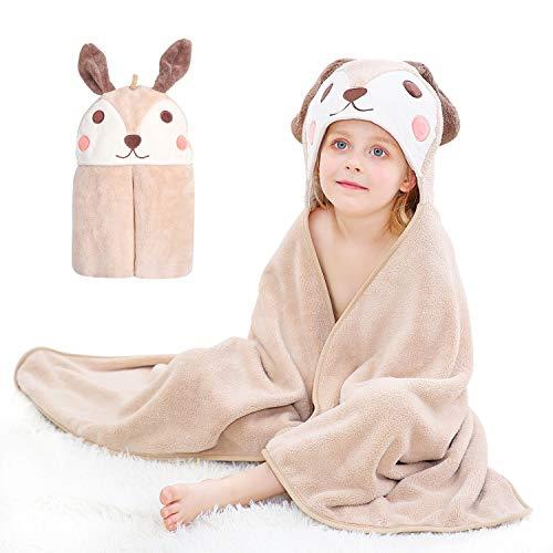 ABirdon Toalla Bebe de Baño con Capucha, 115x70 cm Suave Absorbente Capa Toalla de Baño para Bebé Infantil Niños y Niñas