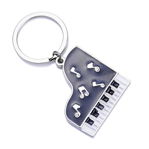 Music Piano Creative Metal Keychain Keyring Keyfob Key Gift