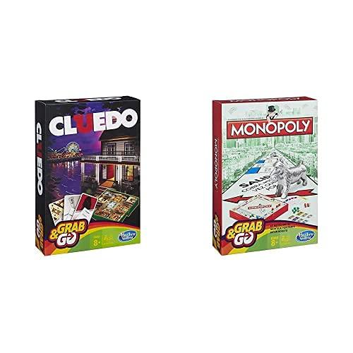 Hasbro Gaming Gaming Travel Cluedo Viaje (Versión Española) + Monopoly Juego De Viaje, Versión Española (B1002105)