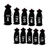 Yinew Bolsas de Botellas de Vino con cordón Bolsas de Regalo de Vino para Vino Almacenamiento de Botellas de Ginebra Impresión de Bolsas de Regalo,Negro