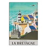 ASFGH La Bretagne Vintage-Reise-Poster, Dekoration,
