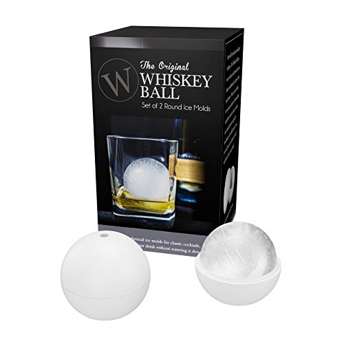 The Original Whiskey Ball - Jumbo Ice Ball Mold – Two Pack – Bartending Essential