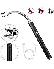 HOVNEE 電子ライター 点火用ライター プラズマ 線香 アウトドア USB 小型 充電式 防風 無炎 BBQ、キャンプ 軽量 薄型