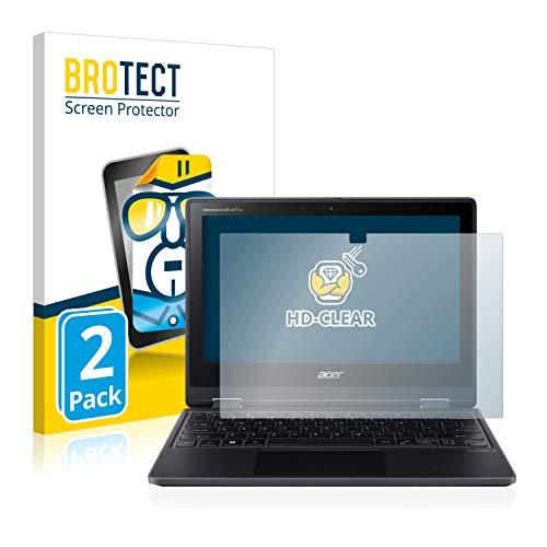 BROTECT Schutzfolie kompatibel mit Acer TravelMate Spin B3 (2 Stück) klare Bildschirmschutz-Folie