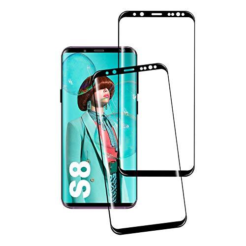Galaxy S8 Gehärtetes Glas Schutzfolie, [2 Stück] Hohe Qualität Gehärtetem Glass [HD Clear] [Blasenfrei] [9H Härte] [Anti-Kratzer] [Case Friendly] Panzerglasfolie für Samsung Galaxy S8