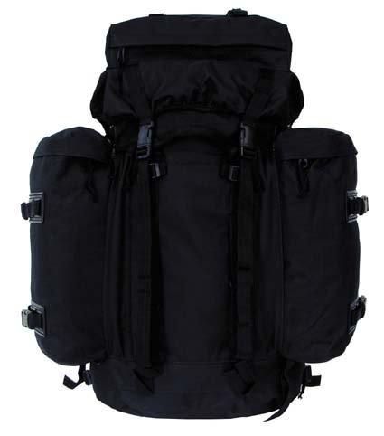 BW sac à dos mountain noir, sangle abdominale et dos rembourrés