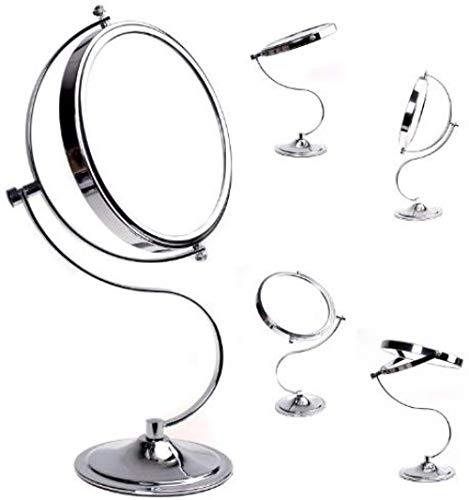 Miroir Debout Grossissement 7X Rotation à 360 ° Miroir cosmétique Recto Verso: grossissement Normal et 7X Miroir de Maquillage Miroir de Voyage Miroir grossissant-7-