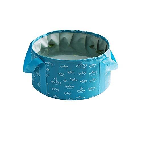 Alberta 10 / 16L bewegliche Faltbare Reise Wasserbecken Soak Füße Eimer große Kapazität Tuch Waschbecken Folding Angeln Eimer-16L-grau (Color : 16L-Sky Blue)
