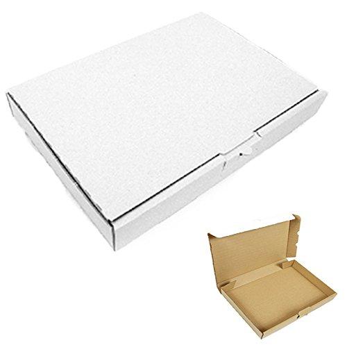 100 Maxibriefkartons 180x130x45mm Weiss Versand Post Faltschachtel MB-2
