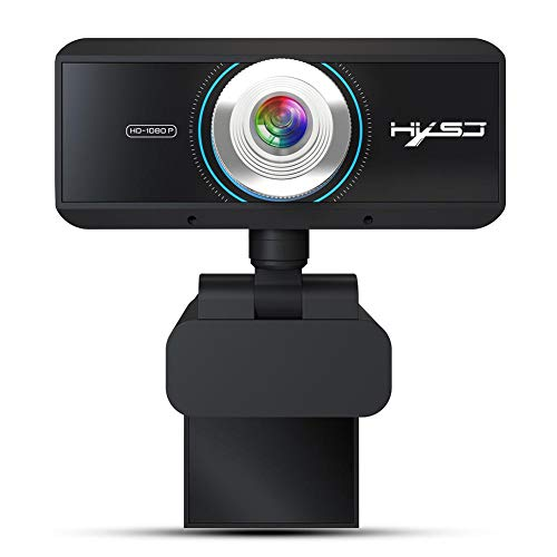 Eillybird autofocus computer camera kop 360 graden draaibare videoconferentiecamera USB-webcam met microfoon computer laptop PC webcamera voor videooproepen opnemen Conferencing 1080P
