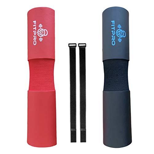 Fitpro Almohadilla Protectora de Cuello y Hombros para Sentadillas y Hip Trust con Barra (Negro)