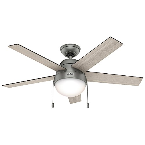 Hunter Anslee Indoor Ceiling Fan with LED Light and Pull...