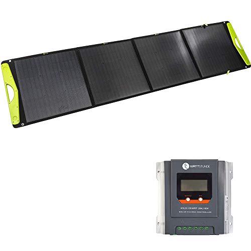 WATTSTUNDE SolarBuddy 200W Solarkoffer - Hardcover Solartasche WS200SB - faltbares Solarmodul direkt mit USB Anschluss am Modul (200W mit WSL20.100)
