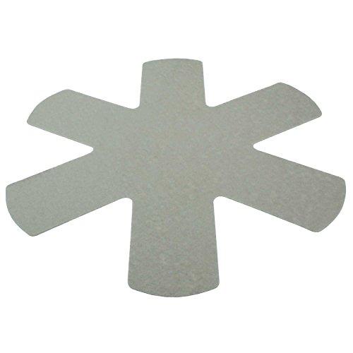 Macosa Home Lot de 3 protections de poêles en feutre et plastique / gris clair / lavable / alimentaire / taille universelle 38 cm / découpable / extra doux, dos antidérapant, protection de poêle, aide à l'empilage