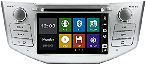 2 two Din 7inch Car DVD player with GPS navigation,free map, audio Radio stereo,USB/SD,AUX,Bluetooth/TV,Canbus,touch screen for TOYOTA LEXUS RX330 RX350
