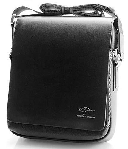 Bolsos de mensajero de hombro para hombre, de calidad, para hombre, Tc-Ds01: negro largo 23 x 25 x 8 cm