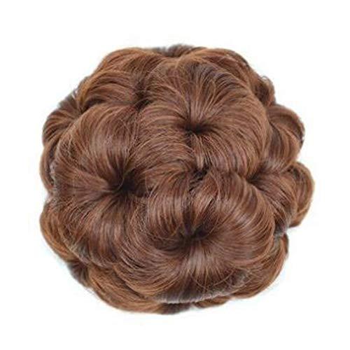 SODIAL Fibre RéSistante à la Chaleur Femmes Pains de Cheveux SynthéTiques Clip-In Chignons Perruques SynthéTiques AdaptéEs Aux FêTes et à la Vie Quotidienne C