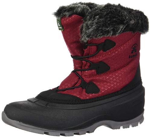 Kamik Women's Momentum Lo Waterproof Winter Boot Red 8 Medium US