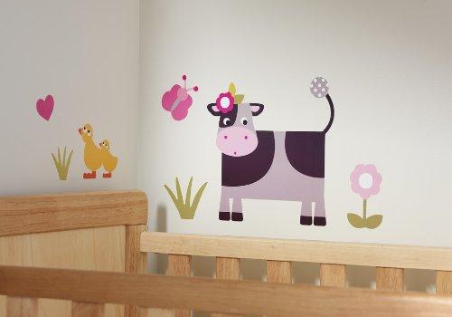 Olive&Moss - WALL-COW - Autocollants de Mur - Collette la Vache - Multi Colore - 0-60 months