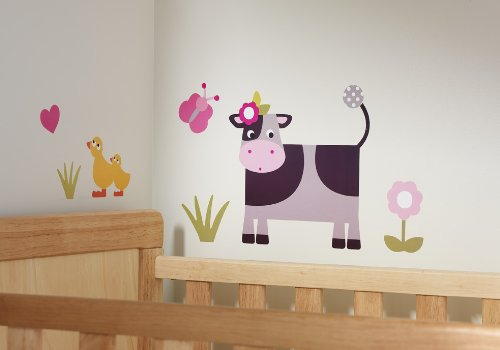 Olive&Moss - WALL-COW - Autocollants de Mur - Collette la Vache - Multi Colore - 0-60 months