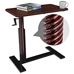 in budget affordable Bedside table with wheels, rollover bed Height adjustable table Bedside table Trolley with wheels…