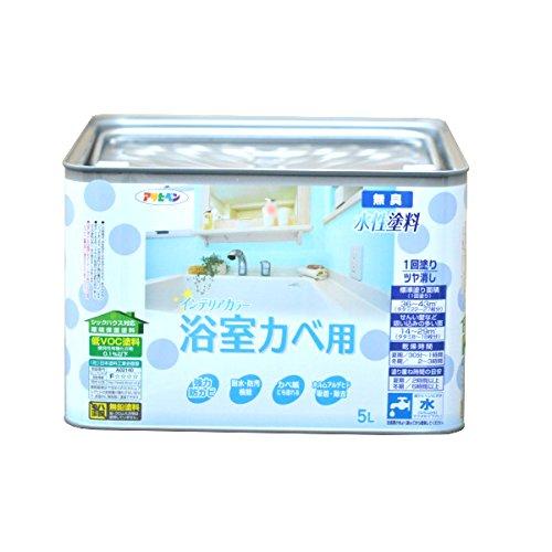 アサヒペン NEW水性インテリアカラー浴室カベ 5L クリーム色