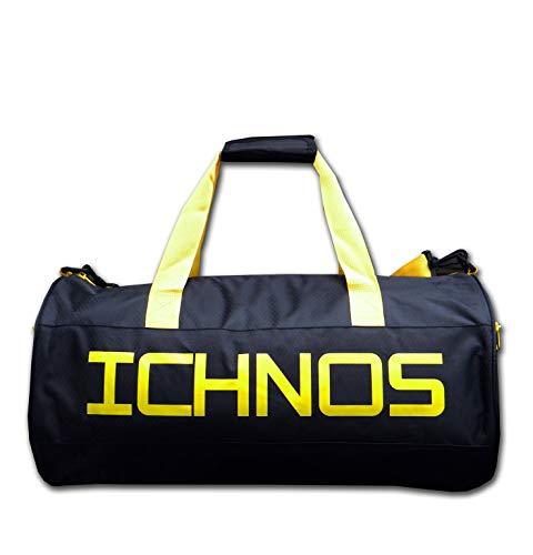 Ichnos Ripstop Borsa da Palestra Sportiva con Tracolla Regolabile Nero/Giallo