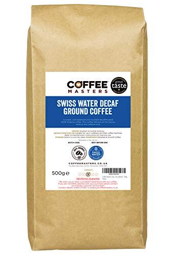 Coffee Masters Swiss Water Decaffeinated Cafetiere - 500g - Great Taste Award Winner 2019
