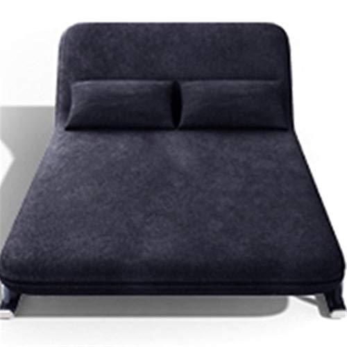 L.W.S Muebles de Dormitorio Cama sofá Cama Plegable día Moderno sofá Plegable sofá con el reclinamiento de la Sala de Estar Muebles de la Sala de Estar durmiendo (Color : Blue)