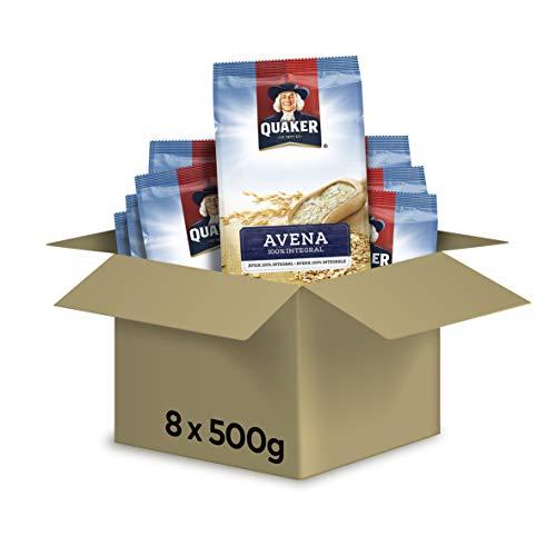 PepsiCo Copos de Avena 100% Integral - Paquete de 8 x 500 gr - Total: 4 kg