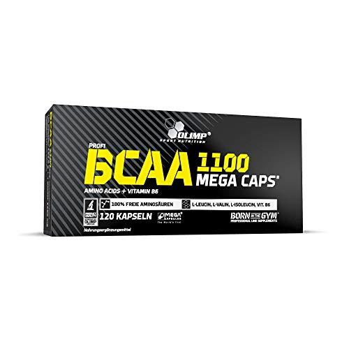 Olimp Labs BCAA Capsules, 1100 mg, Pack of 120 Mega Capsules