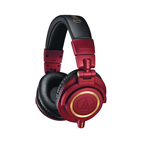 Audio-Technica Headphones, Red, ATH-M50X (ATHM50XRD)