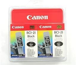 Canon Model BCI-21BK Black Ink Tank - Twin Pack