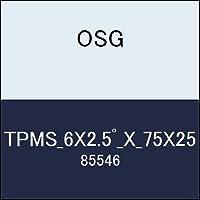 OSG テーパーエンドミル TPMS_6X2.5゚_X_75X25 商品番号 85546