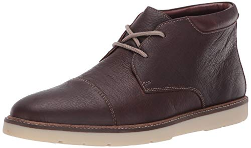 Clarks Men's Grandin Top Chukka Boot, Dark Brown Tumbled Leather, 105 M US