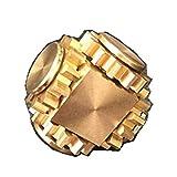 MIKI-Z Fidget Cube Spinner Tringlerie 4 Engrenages Spin Finger Jeux Métal Laiton...