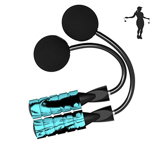 Indoor Cordless Jump Rope Weighted Ropeless Jump Rope With Double Handles-Long or Short Adjustable...