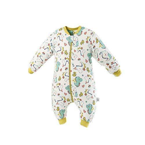 Saco de Dormir para bebés con Mangas extraíbles para bebés Niños de 100% al algodón orgánico Niños Niñas 6-24 Meses,Thin-5,L-100-120CM
