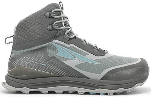 ALTRA Women's AL0A4VRA Lone Peak All-WTHR Mid Trail Running Shoe, Gray/Green - 9 M US