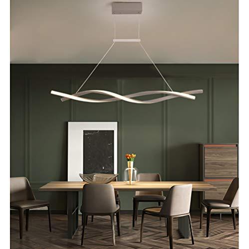 LED Pendelleuchte Esstischlampe Hängelampe Dimmbar Esszimmer Decke Lampe Modern Design Fernbedienung Hängeleuchte Höhenverstellbar Wohnzimmerlampe Küchelampe Couchtisch Landhaus Deko Kronleuchter