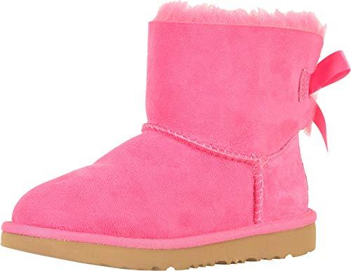 UGG Kids' Mini Bailey Bow II Boot, Pink Azalea, 7 M US Toddler