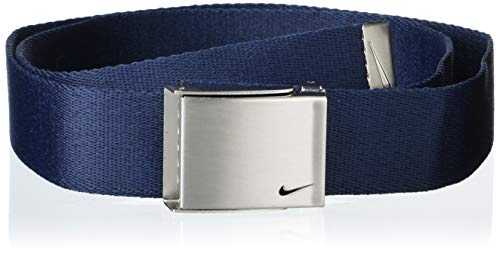 Nike Men's Standard 3 Pack Golf Web Belt, Black/Grey/Navy, One Size