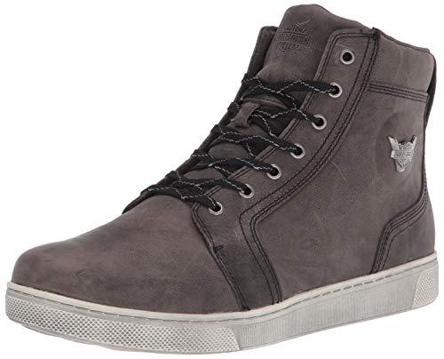 "HARLEY-DAVIDSON FOOTWEAR Men's Bateman 5"" Metal Motorcycle Boot, Grey, 9.5"