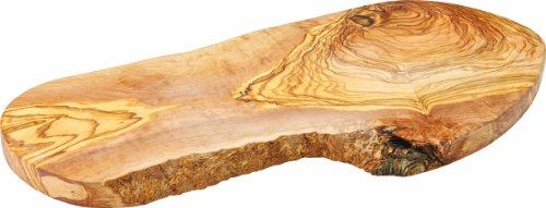 Utopia Jmp988 rustique Plat Ovale en bois d'olivier, Présentation, 40 cm, 40 cm (lot de 6)