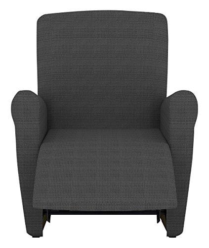 Eiffel Textile Lille Funda sofá sillón, Algodón, Gris, 55 x 195 x 2 cm