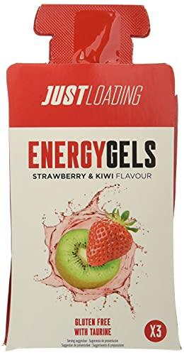 Just Loading - Fresa y Kiwi con Taurina Gel Energético, 10 uds x 30 g